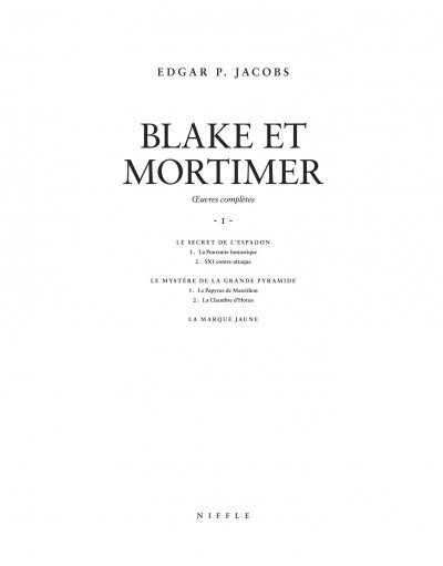 Page 3 Blake et Mortimer - intégrale tome 1