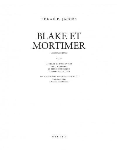 Page 2 Blake et Mortimer - intégrale tome 2