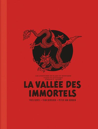 Couverture Blake et Mortimer - édition luxe intégrale - La vallée des immortels