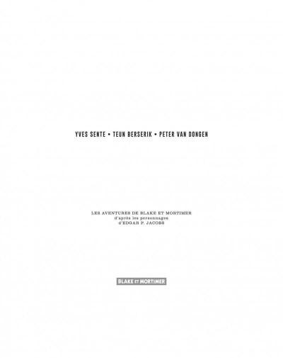 Page 3 Blake et Mortimer - édition luxe intégrale - La vallée des immortels
