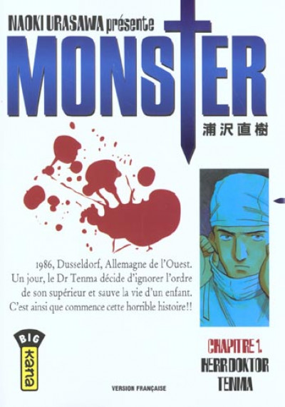Couverture monster tome 1 - herr doktor tenma
