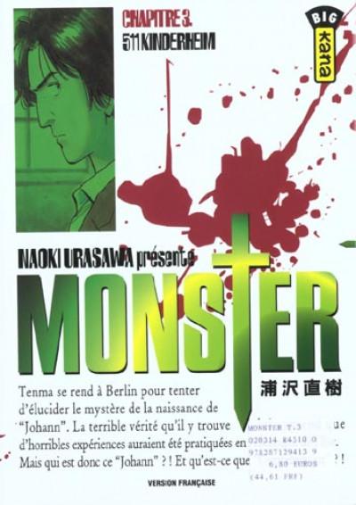 Couverture monster tome 3 - 511 kinderheim