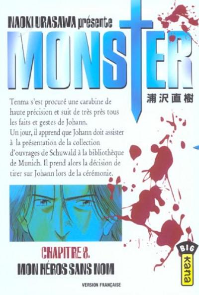 Couverture monster tome 8 - mon héros sans nom