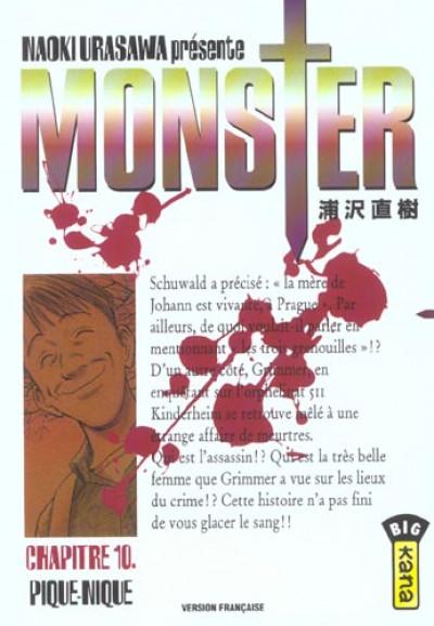 Couverture monster tome 10 - pique-nique