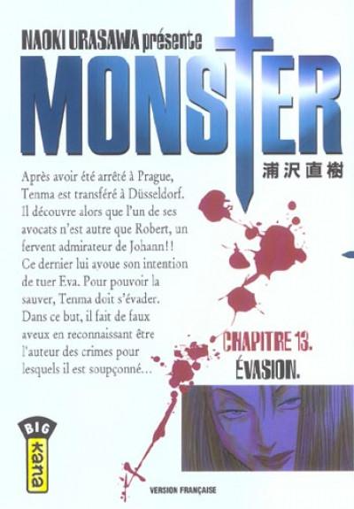 Couverture monster tome 13 - évasion