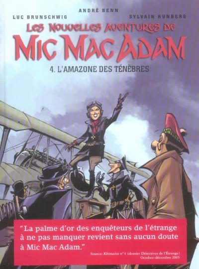Couverture Les nouvelles aventures de Mic Mac Adam tome 4 - L'amazone des ténèbres