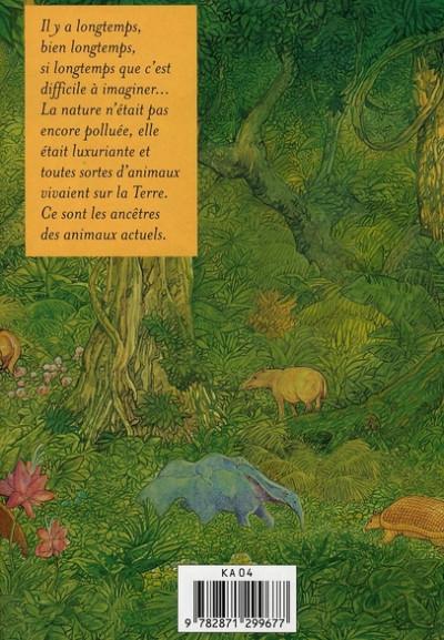 Dos encyclopédie des animaux de la préhistoire