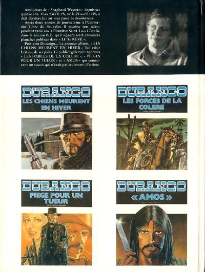 Dos Durango tome 5 (éd. 1985)