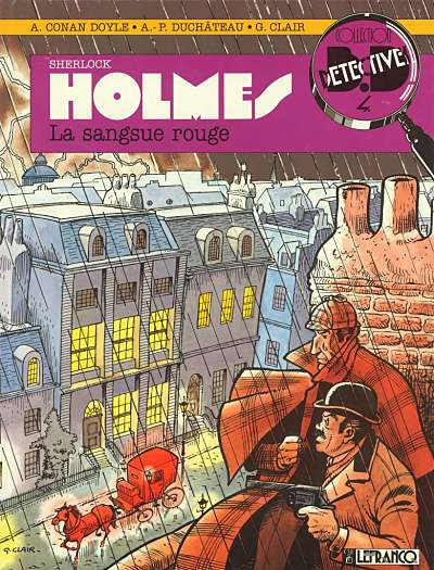 Couverture Sherlock Holmes tome 1 - sangsue rouge
