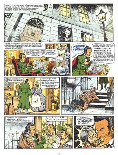 Page 1 Sherlock Holmes tome 1 - sangsue rouge