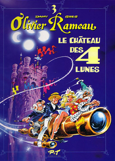 Couverture Olivier Rameau tome 3 - le chateau des 4 lunes