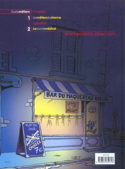 Dos Quels métiers tome 1 - brèves de trottoir