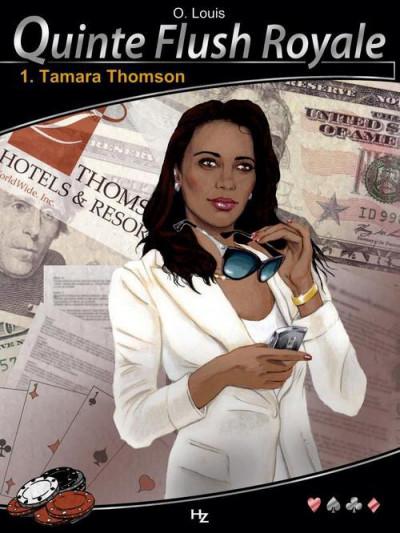 Couverture quinte flush royale tome 1 - Tamara Thompson