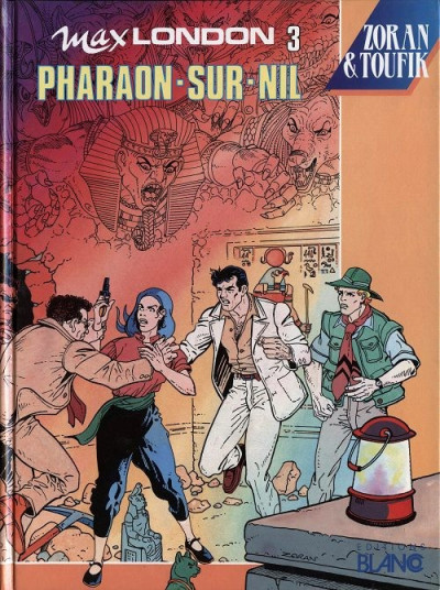 Couverture Max London tome 3 - pharaon sur nil
