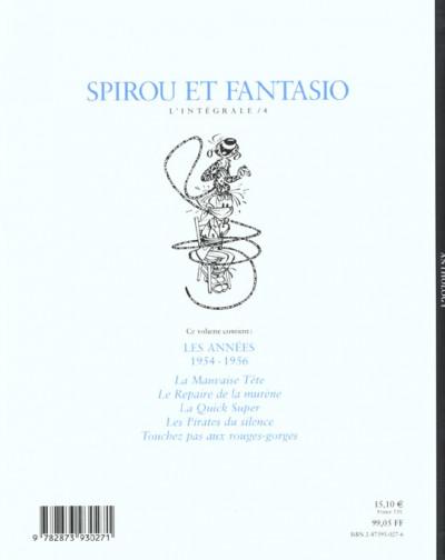 Dos Spirou et Fantasio - intégrale niffle tome 4
