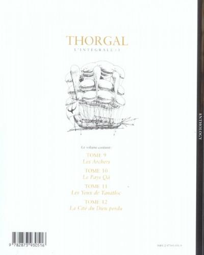 Dos Thorgal - l'intégrale tome 3