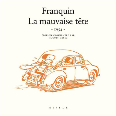 Couverture Spirou et Fantasio : la mauvaise tête - 1954