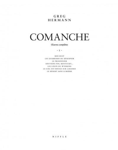 Page 2 Comanche - intégrale noir et blanc tome 1