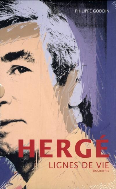 image de lignes de vie ; biographie d'hergé