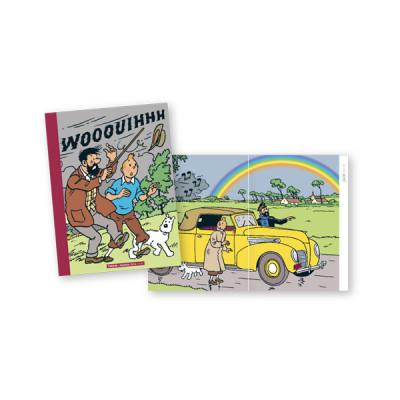 Couverture Agenda 2014 - Les intempéries dans les aventures de Tintin