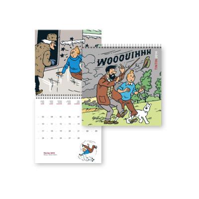 Page 1 Calendrier 2014 - Les intempéries dans les aventures de Tintin
