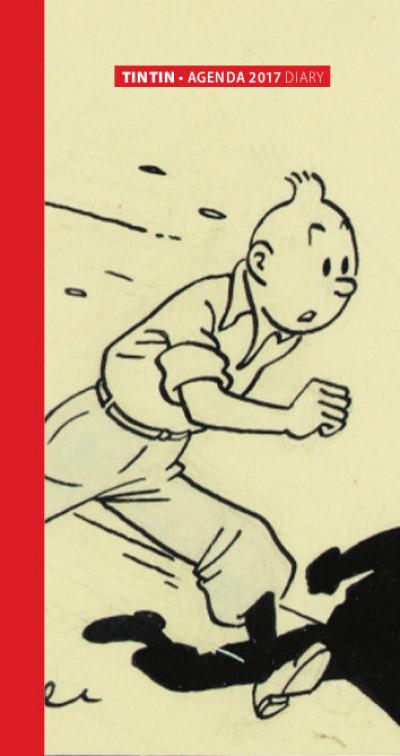 Couverture Tintin - petit agenda 2017