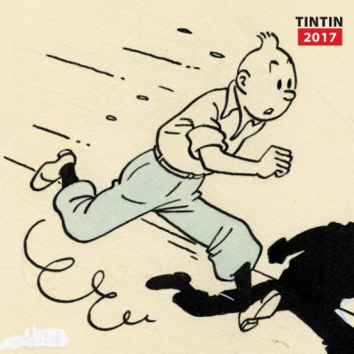 Couverture Tintin calendrier 2017