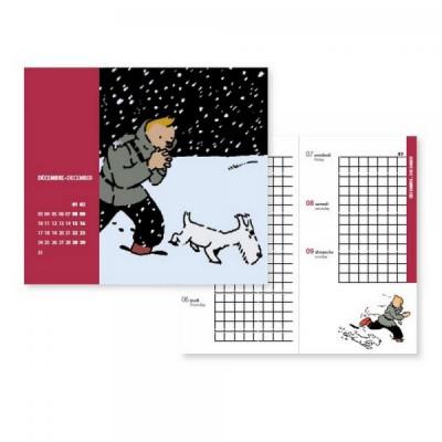 Couverture Tintin - Petit agenda 2018