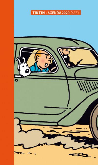Couverture Petit agenda Tintin 2020