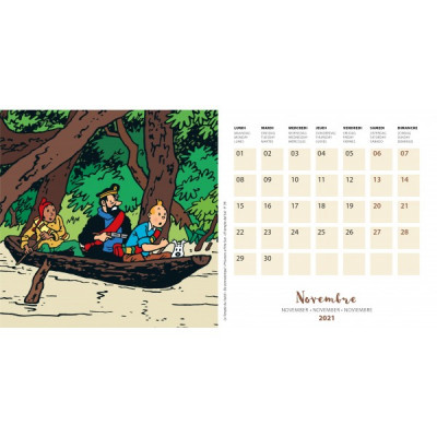 Page 3 Petit calendrier à poser Tintin 2021 - Save the planet