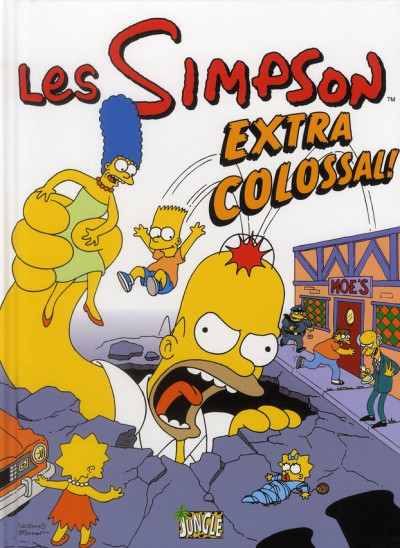 Couverture les simpson tome 9 - extra colossal !