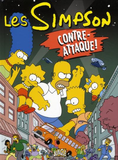 Couverture les Simpson tome 12 - contre-attaque !