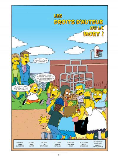 Page 1 les Simpson T.17 - sans filet !