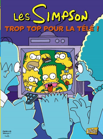 Couverture les Simpson T.14 - trop top pour la télé !