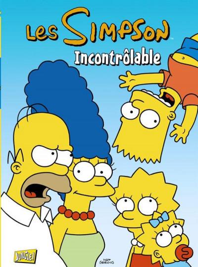 Couverture les Simpson T.19 - incontrôlable