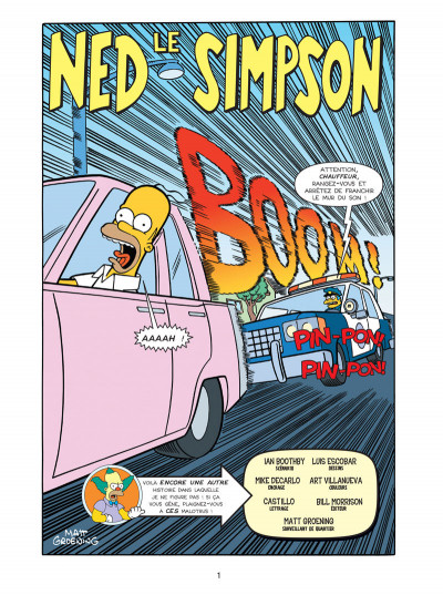 Page 1 les Simpson T.20 - dollars aux donuts