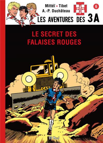 Couverture les aventures des 3A T.6 - le secret des falaises rouges