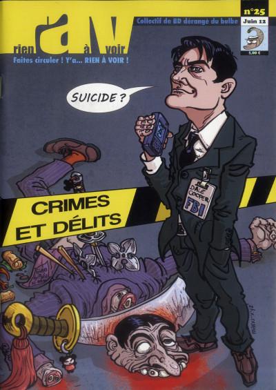 Couverture Rien A Voir N.25 ; Crimes Et Délits