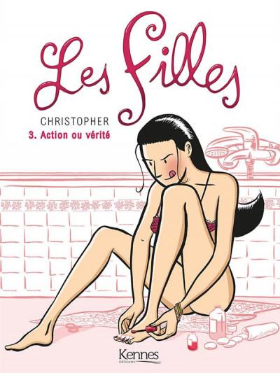 Couverture les filles tome 3 - action ou vérité