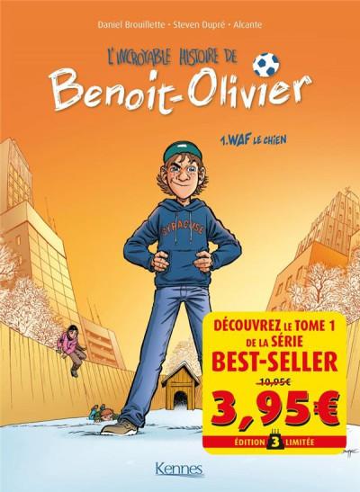 Couverture L'incroyable histoire de Benoît Olivier tome 1 - Waf le chien (prix découverte)