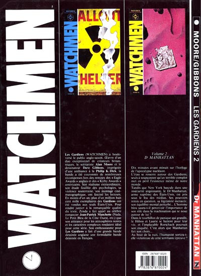 Dos Watchmen (les gardiens) tome 2 - docteur Manhattan