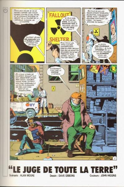 Page 1 Watchmen (les gardiens) tome 2 - docteur Manhattan