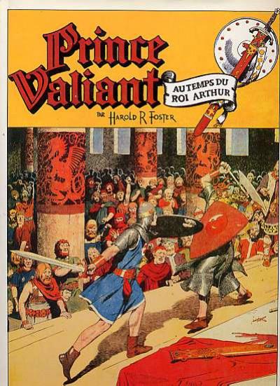 Couverture prince valiant tome 9 - 1953-1955 le paladin de la croix