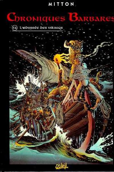 Couverture chroniques barbares tome 3 - l'odyssée des vikings