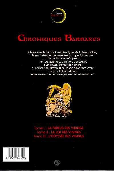 Dos chroniques barbares tome 3 - l'odyssée des vikings