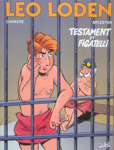 Couverture léo loden tome 10 - testament et figatelli