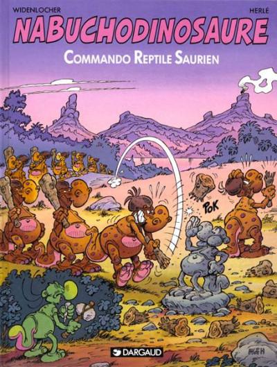 Couverture nab tome 5 - commando reptile saurien
