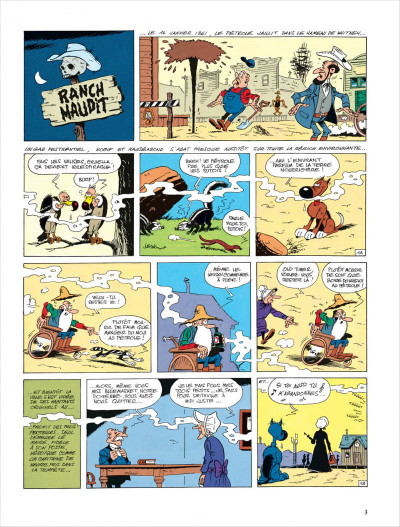 Page 3 lucky luke ; le ranch maudit