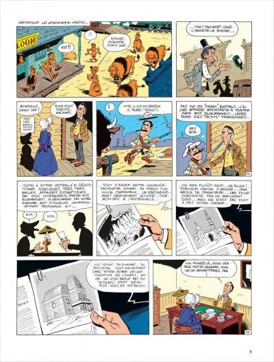 Page 5 lucky luke ; le ranch maudit