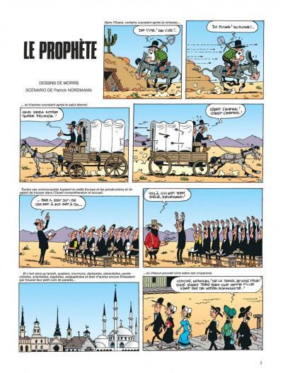 Page 3 lucky luke ; le prophète
